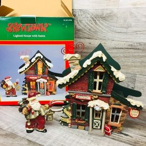 Kurt Adler Snowtown CLAUS Workshop Lighted House